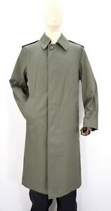 French-Army-Waterproof-Trench-Coat-Jacket-Grey-Olive-Long-Full-Length-Raincoat