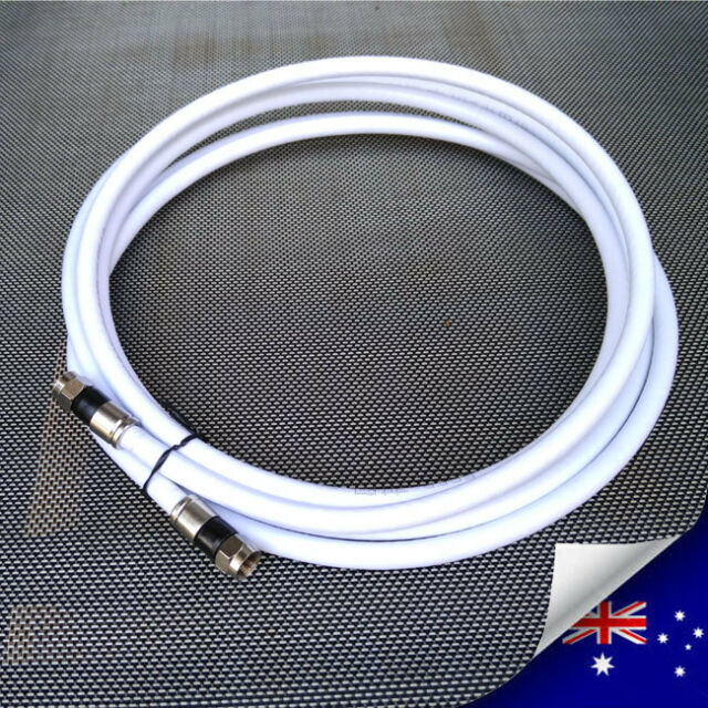 RG6 QUAD Shield TV Antenna Coax Cable 75 Ohm / F Type Male To F Type Male - NEW