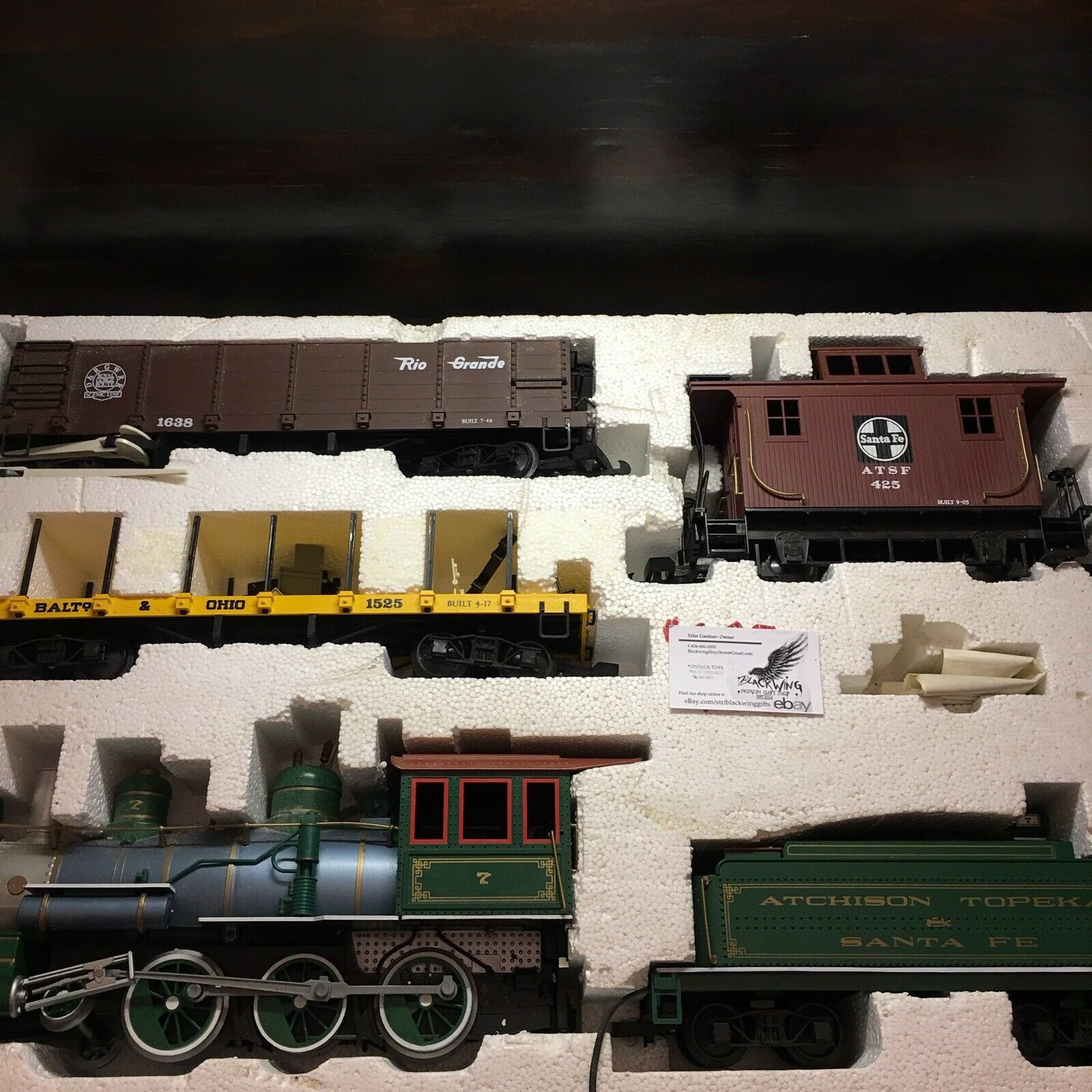 5 Piece Rio Grande Santa Fe Modell Electric Train Set ATSF Collectible Hobby