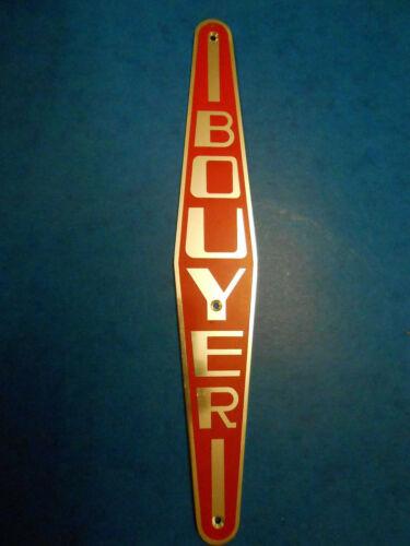 plaque monogramme logo capot motoculteur BOUYER emblème
