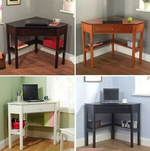 Details about Corner Computer Desk Home Dorm Kids Student Bedroom Furniture  Laptop Stand Desks