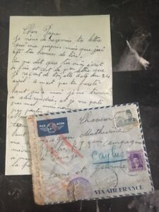 1940-Alexandria-Egypt-Dual-Censored-Cover-to-Caylus-France-Letter-Enclosed