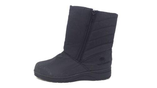Women/'s WEATHERPROOF ROSIE Snow Boot Black 102XY sm New