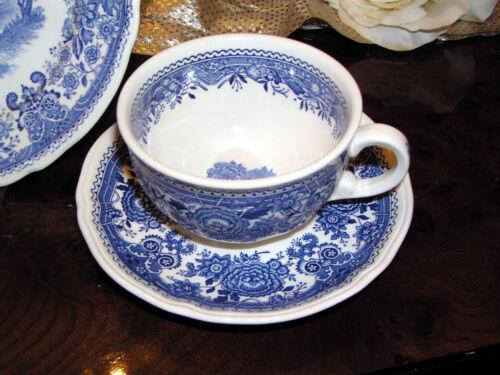 Untertasse Villeroy /& Boch Burgenland blau edles Teegedeck 2-teilig Teetasse