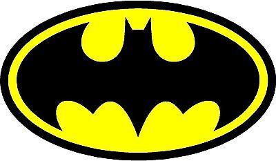 Diecut Vinyl  BATMAN LOGO  Decal Sticker Gift Laptop Comic Dark Knight Colored
