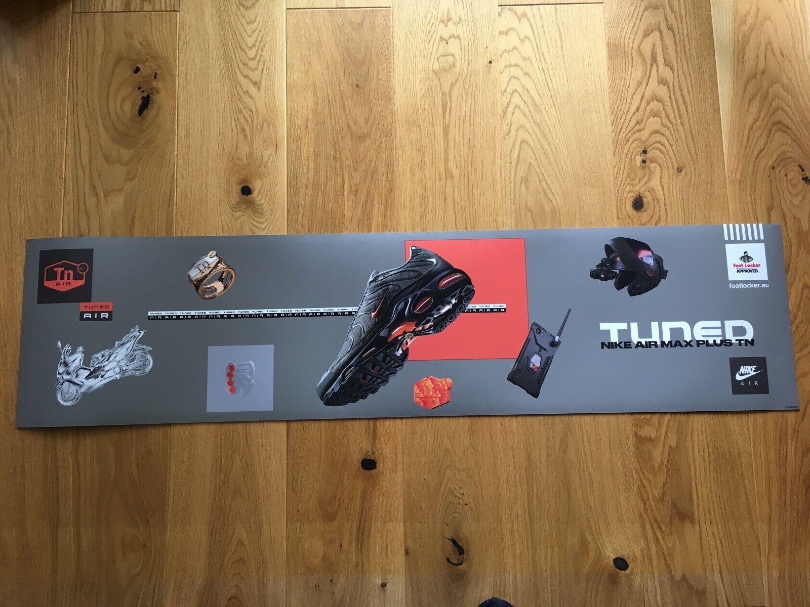 Nike Air Max Plus 122x30 Tn Tuned 1 Haifisch 122x30 Plus cm Banner Werbe Plakat Promo bd1713