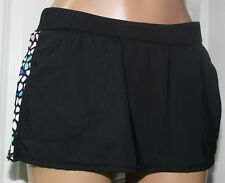 NEW Anne Cole Locker 16LB401 Petal Power Pocketed Active Swim Skirt Bottom XS