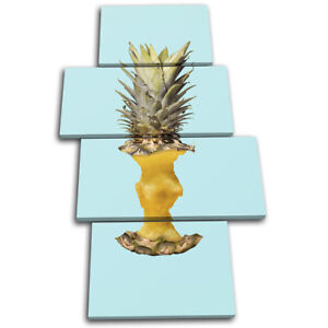 Pineapple-Apple-Concept-Food-Kitchen-MULTI-CANVAS-WALL-ART-Picture-Print