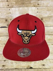 Mitchell & Ness Chicago Bulls Cork Board Hat Cap Snapback OSFA Wool Blend NBA