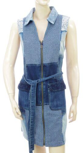 DESIGUAL Robe jeans Vest BETULA femme 18SWVD17 coloris 5183 bleu taille 44