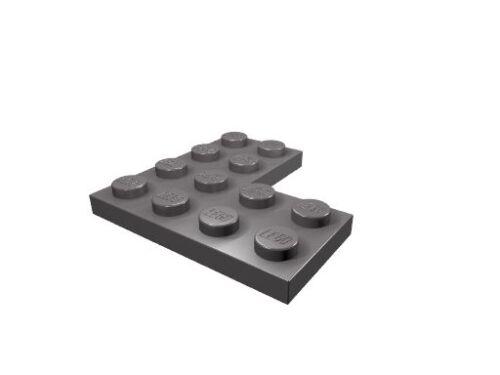 2639 10 x dunkel-blaugrau LEGO Eckplatte 4 x 4 neu