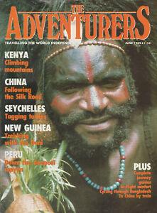 THE-ADVENTURERS-Magazine-June-1989-Kenya-China-Seychelles-New-Guinea-Peru