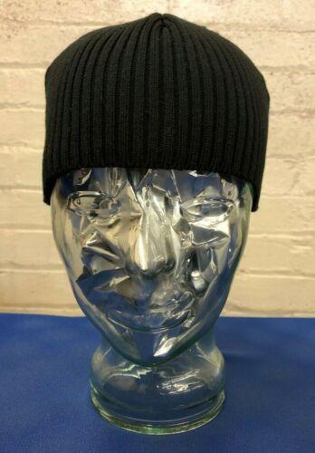 Made in UK Black Cotton Beanie Hat