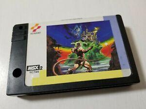 MSX 2 Game Akumajo Dracula Castlevania Konami 1986 Japan 0426A35