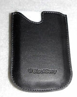 Blackberry Leather Pocket Sleeve Pouch Case For Curve 8300 8310 8320 Black