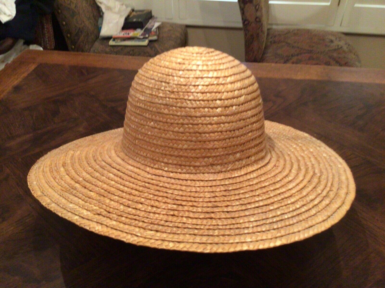 VINTAGE ARLIN WIDE BRIMMED STRAW HAT - image 1