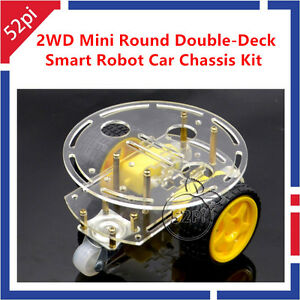Details about 2WD Mini Round Double-Deck Smart Robot Car Chassis DIY Kit  for Arduino New