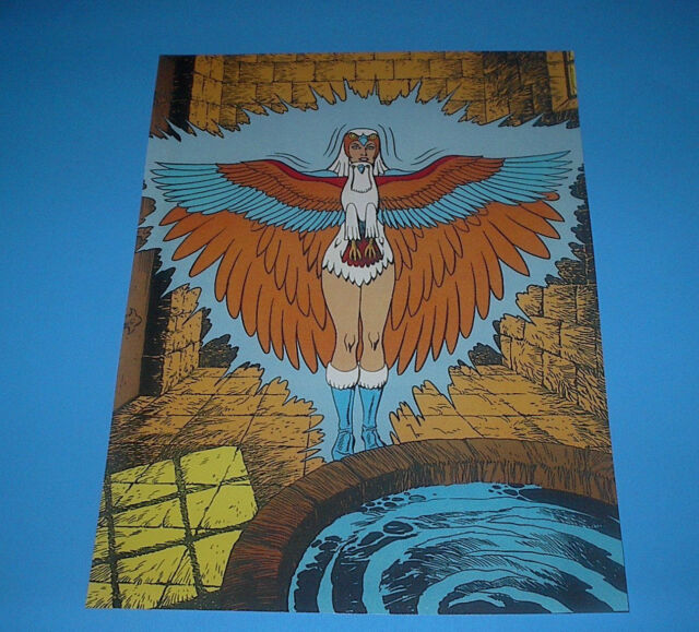 HE-MAN MASTERS OF THE UNIVERSE SORCERESS /ZOAR POSTER PIN UP