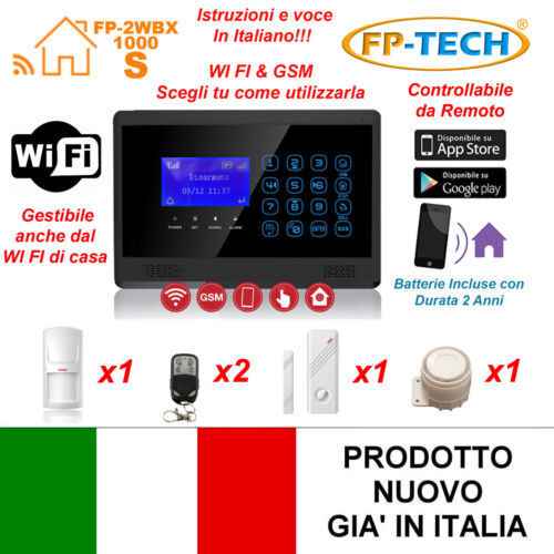Antirrobo Alarma Casa Wi Fi y Combinador Gsm Integrado sin Hilos Inalámbrico App