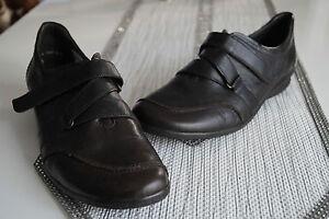 ARA-Damen-Schuhe-Slipper-Leder-leicht-mit-Einlagen-Klett-braun-Gr-41-7-5-G-NEU