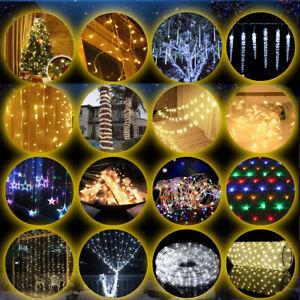 LED-Lichterkette-Lichternetz-Lichtschlauch-Weihnachten-Beleuchtung-Aussen-Innen