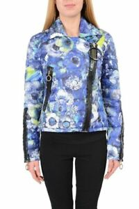 Just-Cavalli-Multi-Color-Floral-Full-Zip-Duck-Down-Women-039-s-Jacket-US-S-IT-40