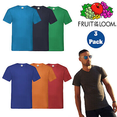 5-PACK Mens Valueweight V-Neck Boys T-Shirt 100/% Cotton Plain Tee @ Cheap Price
