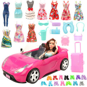 Barwa-for-Barbie-trolley-luggage-8-accessories-10-shoes-10-clothes