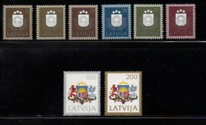Latvia-Sc-300-307-1991-National-Arms-stamp-set-mint-NH-Free-Shipping