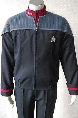 Star Trek Nemesis Captain Sisko Picard Uniform Cosplay Costume Jacket+Pants