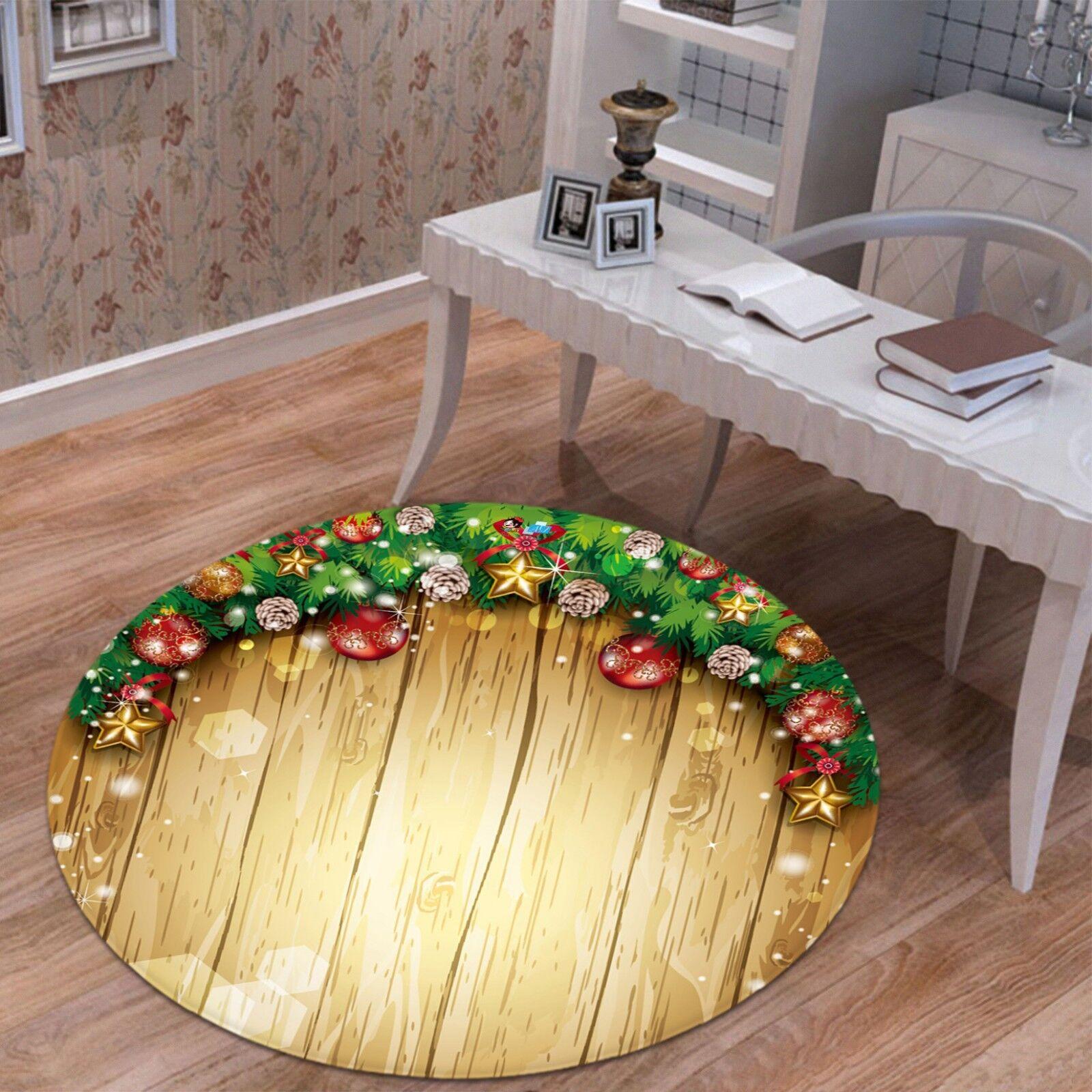 3d navidad Xmas 114 antideslizante alfombra para maletero espacio rondas elegante alfombra de