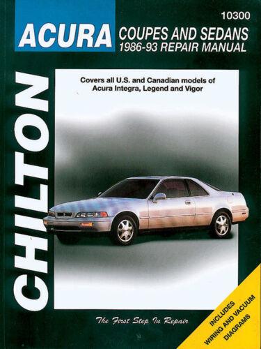 Chilton Repair Manual #10300 Acura coupes Sedans 1986-93  new