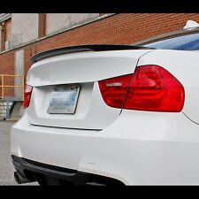 Carbon Fiber Rear Trunk Boot Lip Spoiler For BMW 3 Series E90 2006~2011 4DR