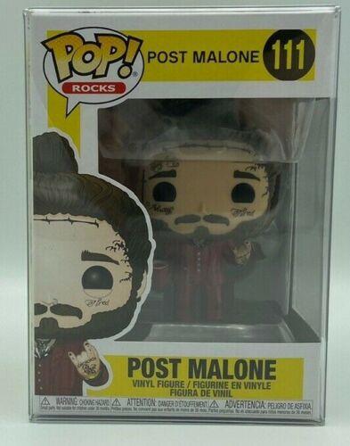 Post Malone #111 Figure Vinyl In-Stock with protector Funko Pop Rocks