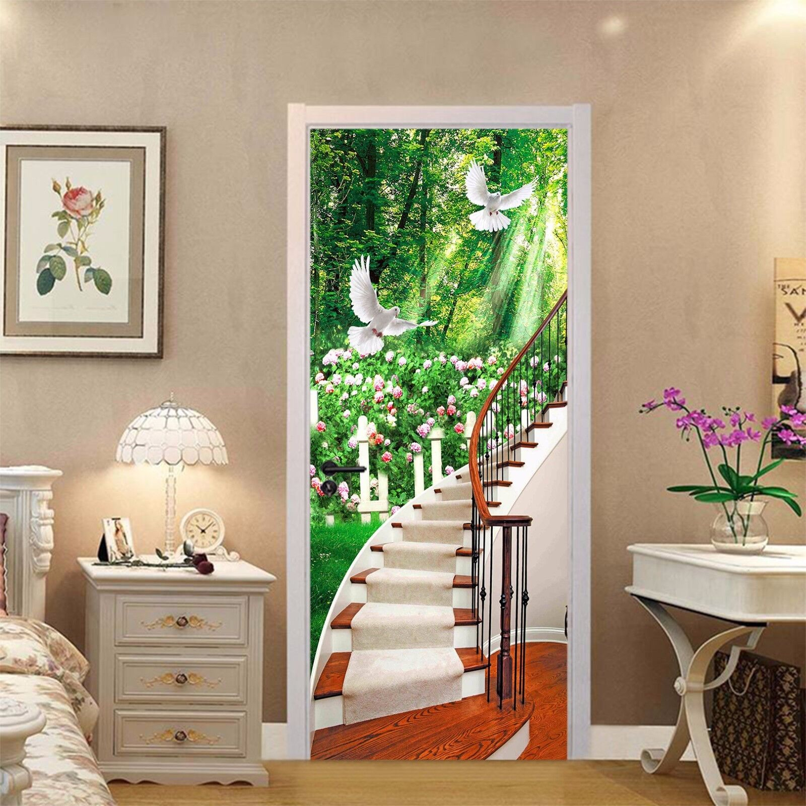 3D Tauben 752 Tür Wandmalerei Wandaufkleber Aufkleber AJ WALLPAPER DE Kyra  | Verkauf Online-Shop  | Glücklicher Startpunkt  | Hohe Qualität