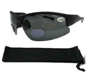 16d94ce515 Image is loading Bifocal-Polarised-Sunglasses-Wrap-Around-Cycling-100-UV-