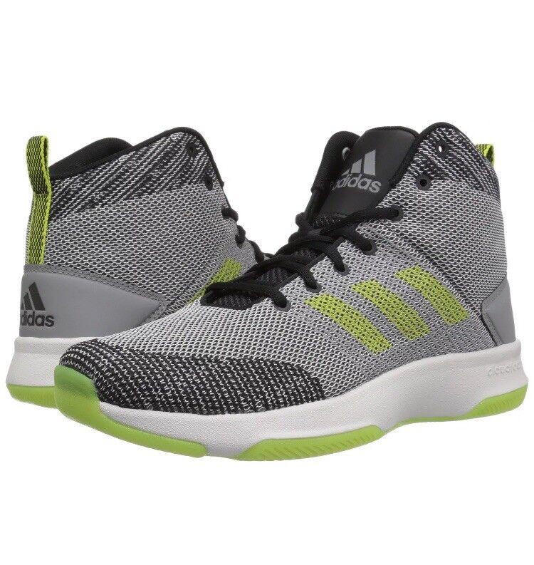 adidas neo mens di esecutore metà scarpe da basket, grey 5 / semi -
