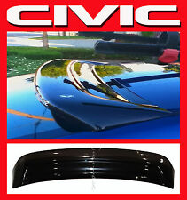 JDM 2003 Civic EM 2 Door Coupe Rear Roof Window Visor w/ Stability Brackets EM2