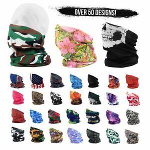 Face Warmer Mask Neck Tube Scarf Biker Ski Snood Balaclava Bandana DARK RED