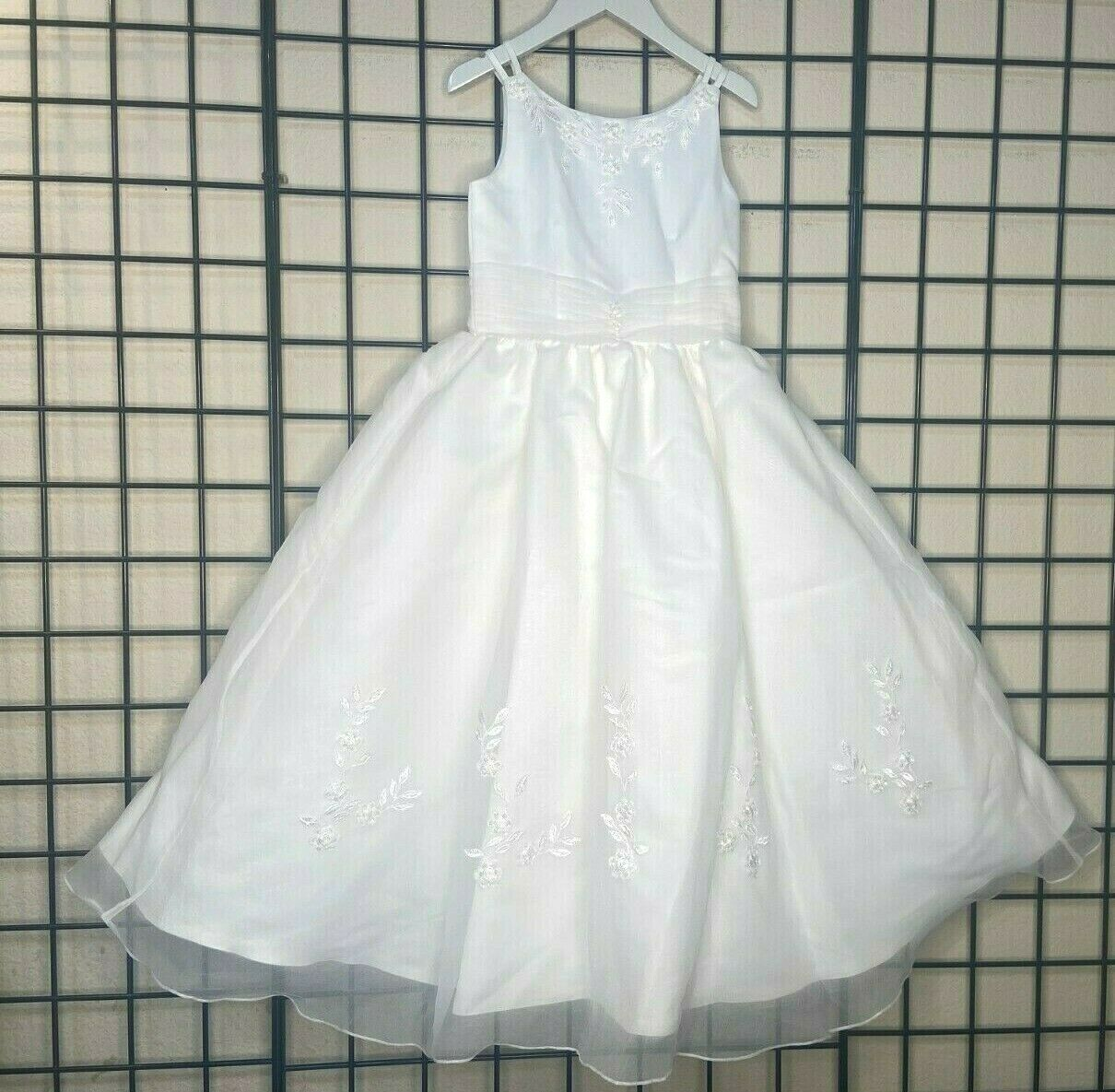 NWT NEW Ivory Satin, Chiffon Sweetie Pie Pageant/Party/Formal Gown 6Y-Fit 6/7/8Y