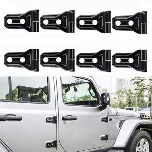 Black Door Hinge Cover Trim Kit Accessories For 2018 Jeep Wrangler JL 4-Door #B