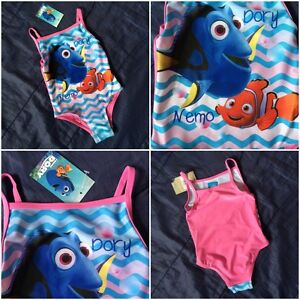 Finding Dory Nemo Girls Swimming Costume Holidays Beach Pool