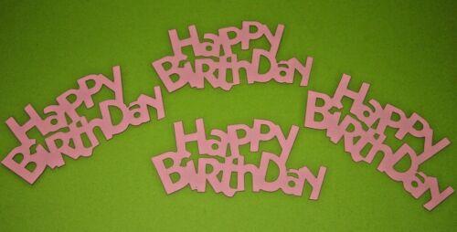 15cm x 7cm Top 4er Set Geburtstags-Deko HAPPY BIRTHDAY 13 Farben Tischdeko