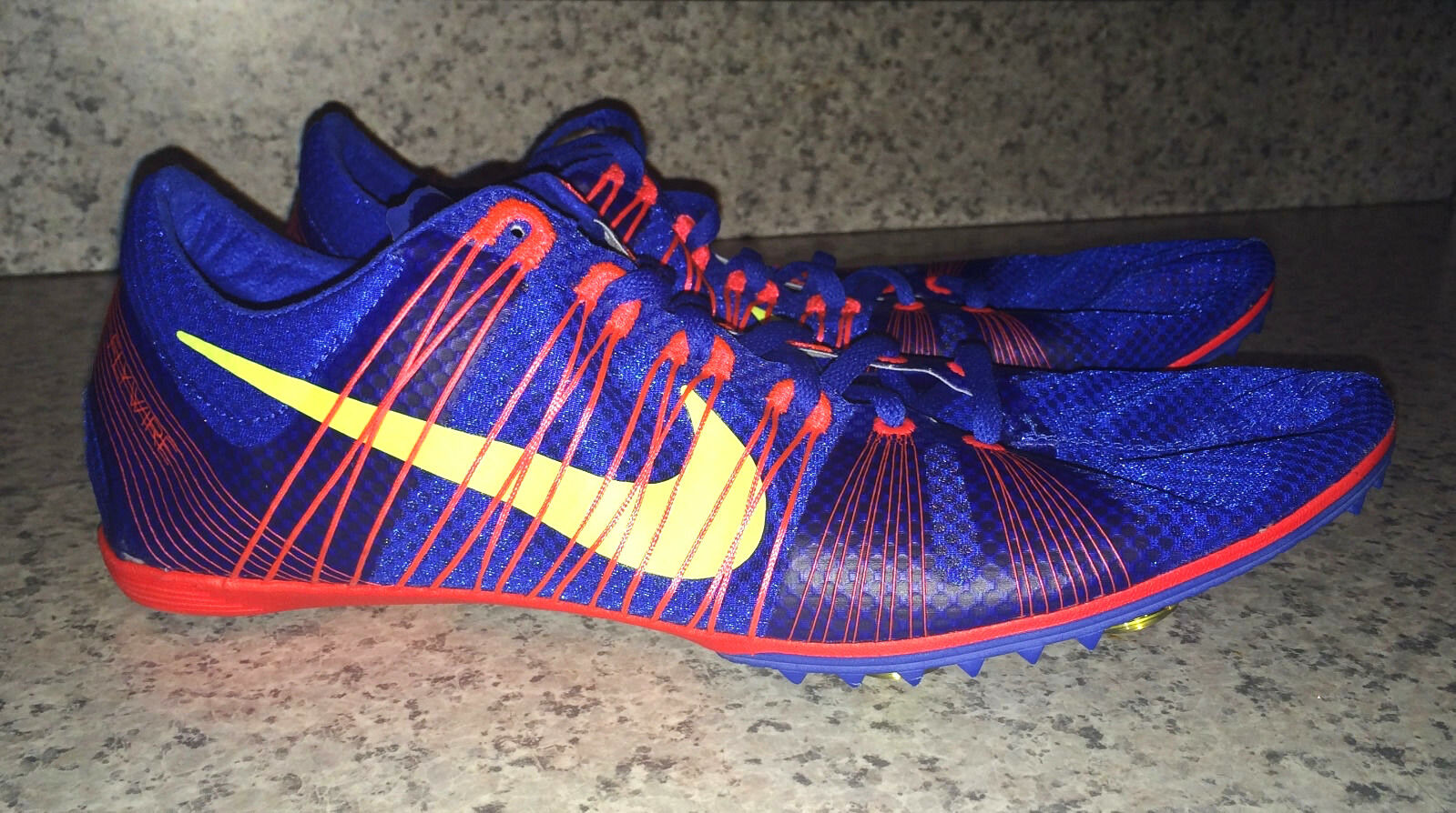 NIKE Zoom Victory 2 Royal bluee Red Mid Distance Track Spikes shoes NEW Mens 13