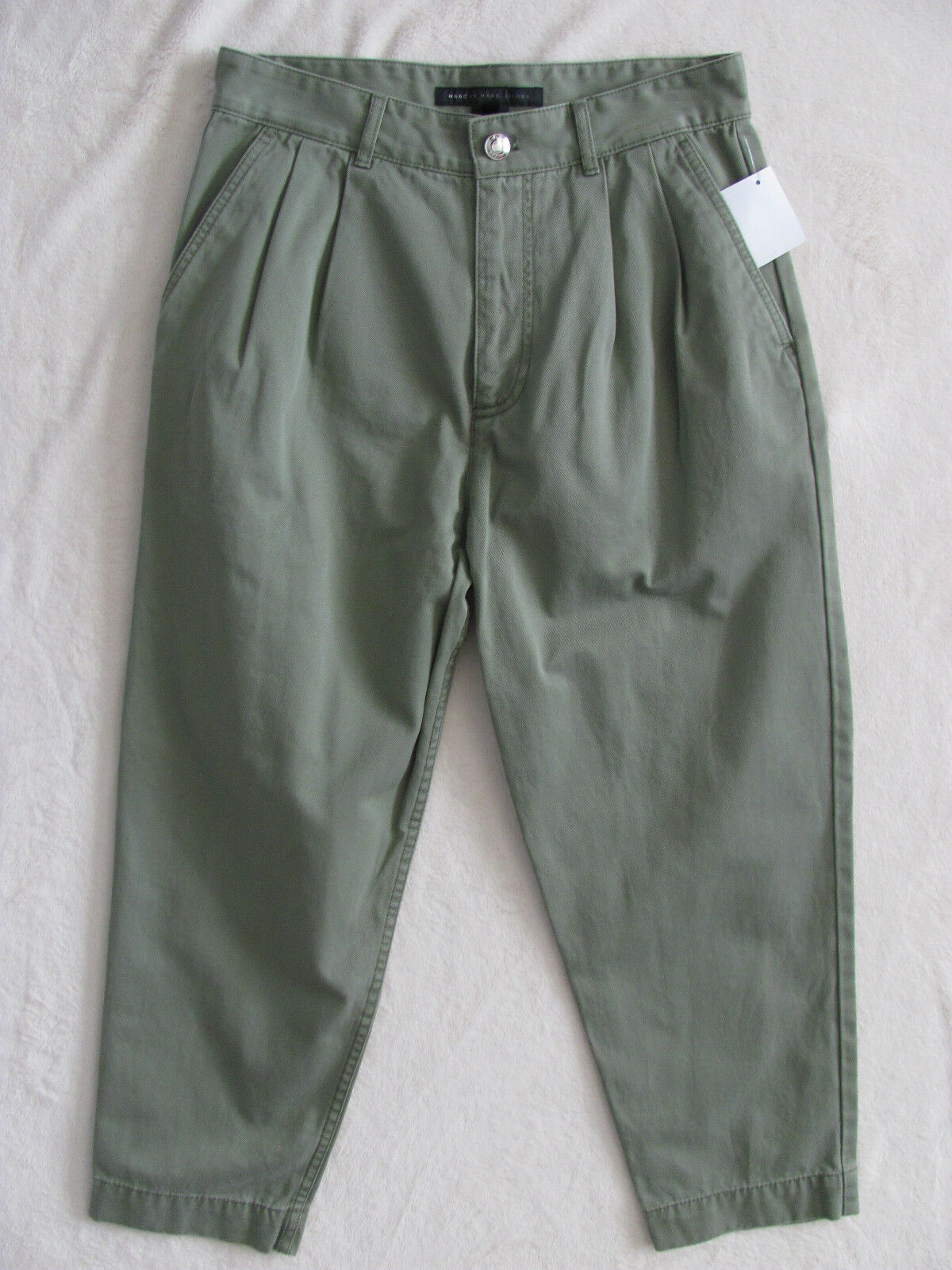 Marc by Marc Jacobs Pleated Cropped Capri Pants-Moore Green-Size 2 -NWT  278