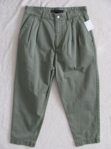 2 Green nwt Pants 278 888877513782 By Marc moore Pieghettato Capri size Jacobs IzYqY8