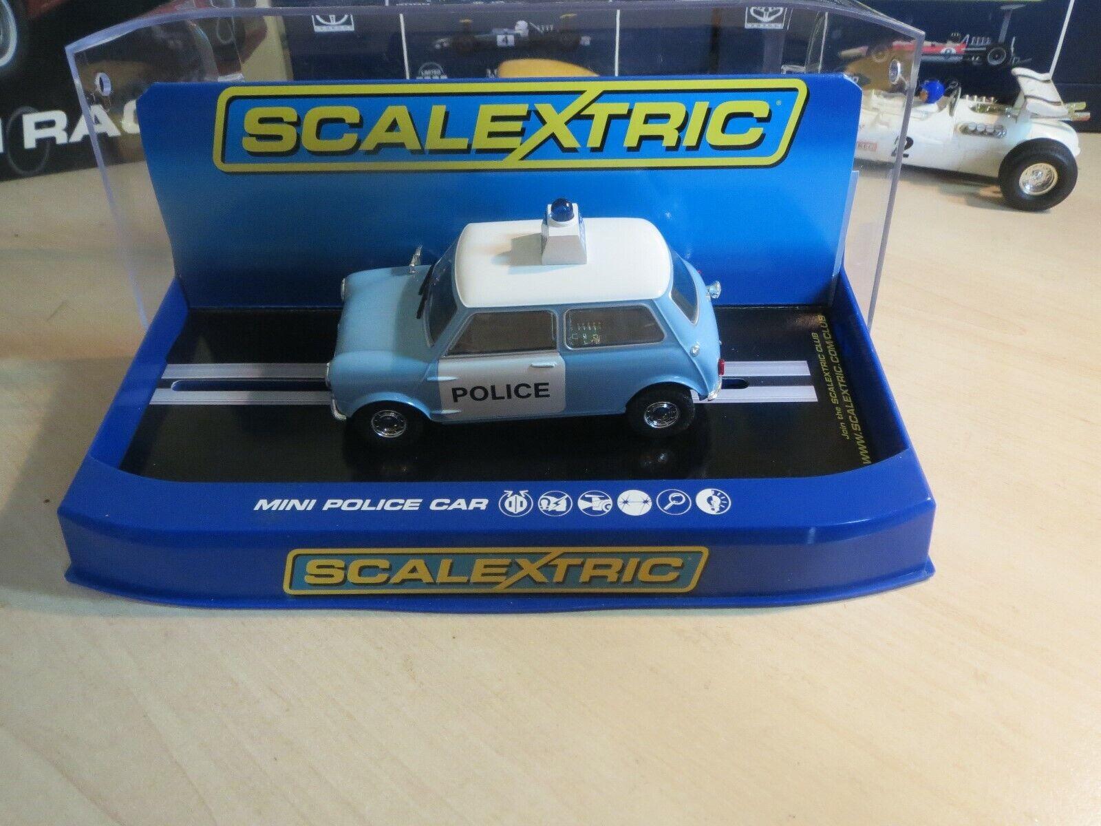 Scalextric C3213 Morris Mini Police car BNIB