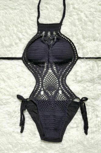 Womens Swimwear Set One Piece Crochet Knit Bathing Suit Swimsuit Monokini Bikini
