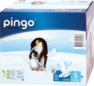 144 St Pingo BIO Windeln JUNIOR Größe 5 4x Beutel Karton Einwegwindel 12-25 kg