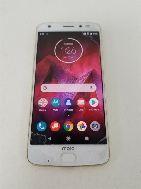 Motorola Moto Z2 Force 64GB Gold XT1789-01 (Verizon) Reduced Price!! KW7866